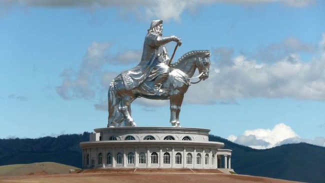 10.) The burial site of Genghis Khan.