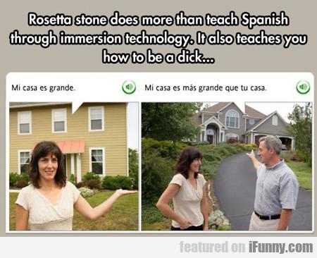 Rosetta Stone Does More Than Teach Spanish...