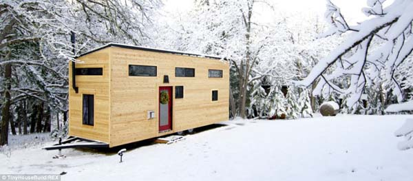 It only cost the couple $22,000 to build their tiny home on wheels ($33,000 if you include the appliances).