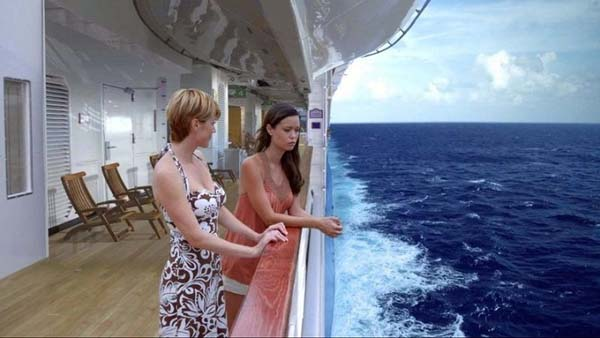 After: a cruise ship on the ocean.