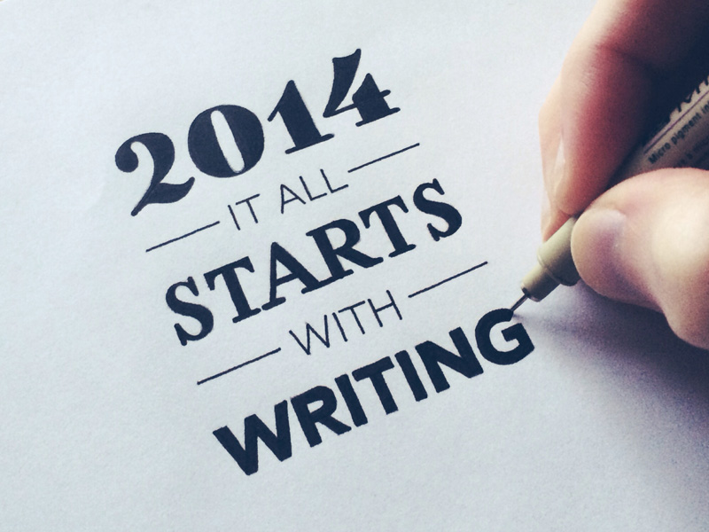 2) It All Starts With Writing.