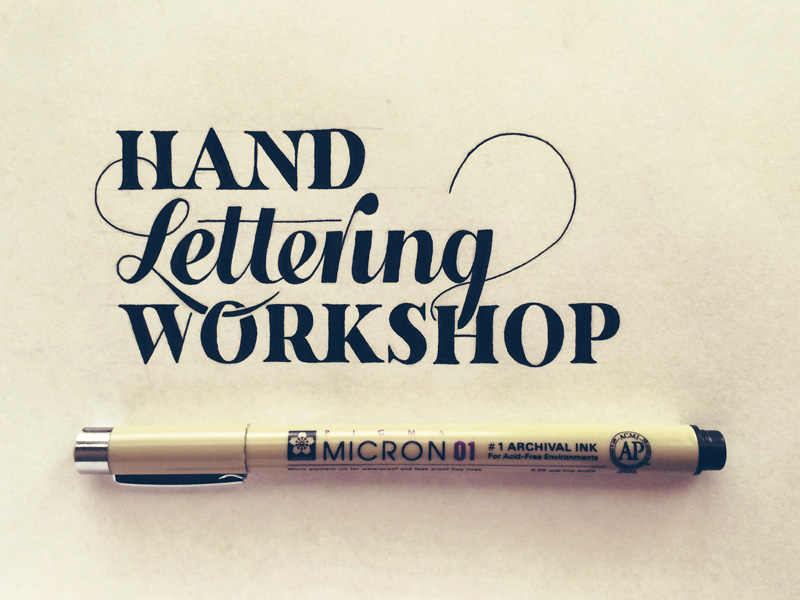 11) Hand Lettering Workshop.