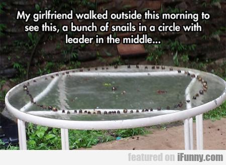 My Girlfriend Walked Outside