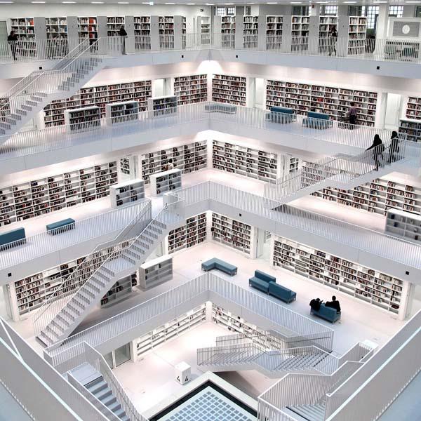 3.) Stuttgart City Library