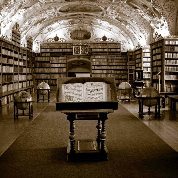 (Strahov Monastery Library in Prague)