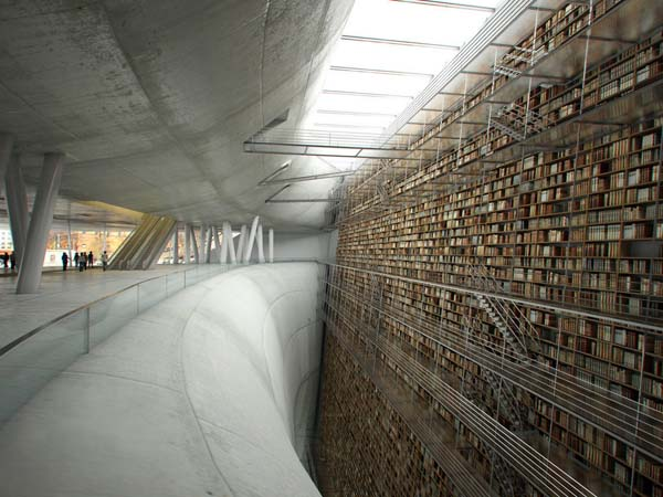 17.) Stockholm's potential future Public Library (architect's rendering).