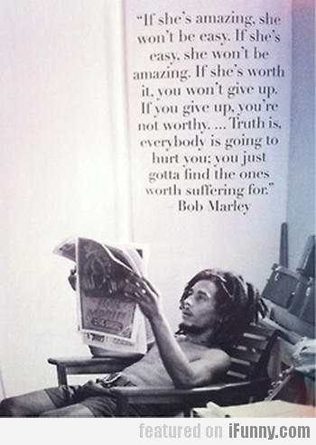 If She's Amazing, She Won't Be Easy...