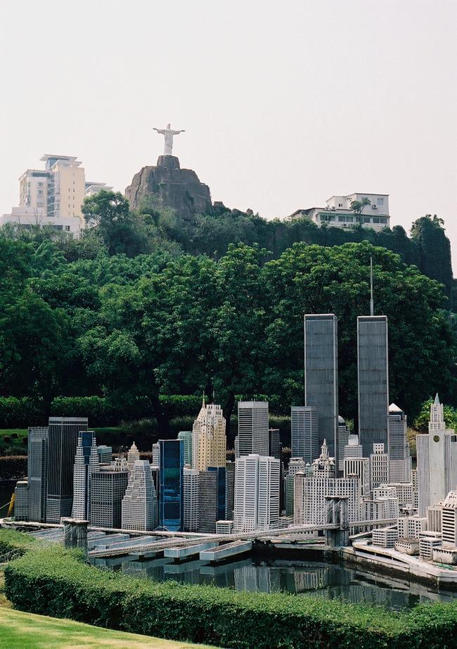 Christ the Redeemer - Rio de Janeiro, Brazil / Manhattan Skyline - New York, New York
