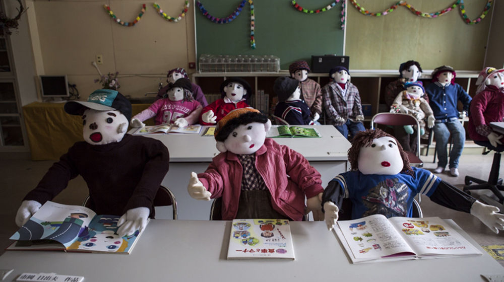 Over a span of 10 years, she has sewn about 350 life-size dolls, each one representing a former villager.