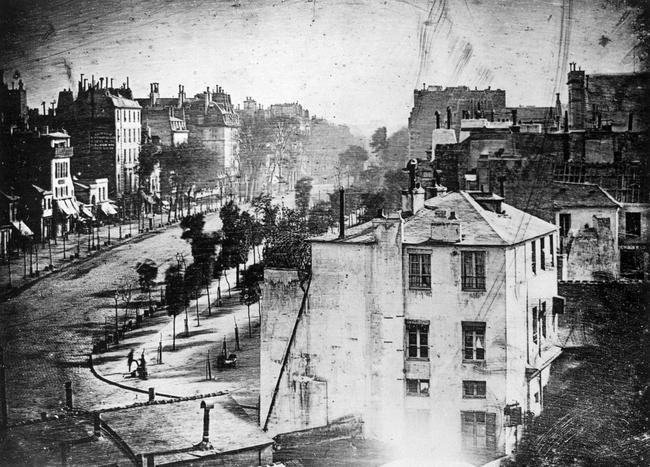 2.) Boulevard du Temple, a daguerreotype taken by Louis Daguerre.