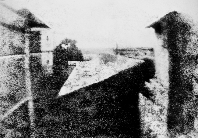 4.) View from the Window at Le Gras, the world's first photograph by Joseph Nicéphore Niépce.