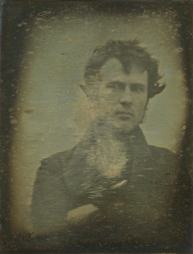 8.) Robert Cornelius, an American pioneer of photography, takes possibly the world's first selfie.