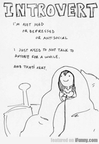 Introvert - I'm Not Mad Or Depressed Or Anti..