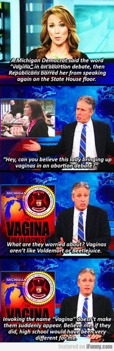 A Michigan Democrat Said The Word Vagina...
