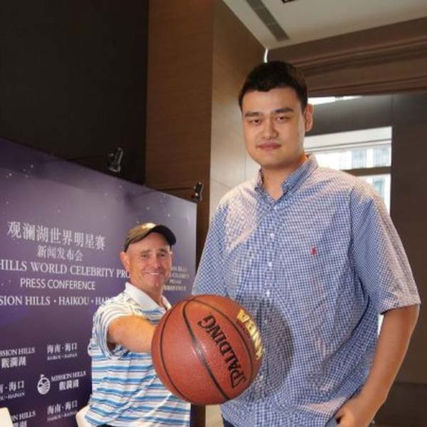 12.) Yao Ming thinks it is cute when other people palm basketballs.