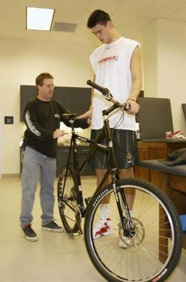 10.) Better question: where did he buy this bike?!