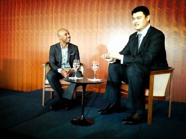 22.) Normal furniture barely works for Yao Ming.