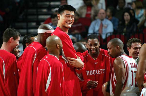 15.) Right now, he is enjoying how he dwarfs all NBA players.