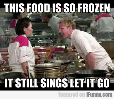 This Food Is So Frozen...