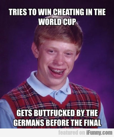 Tries To Win Cheating In The World Cup...