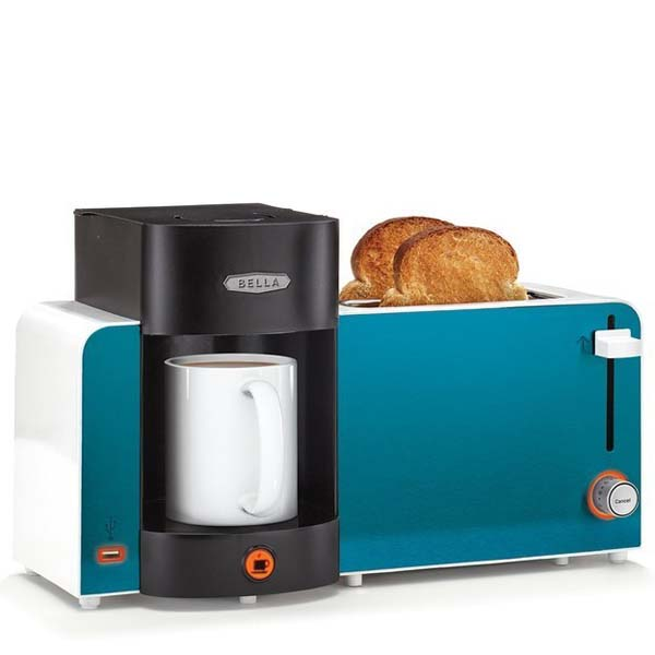 5.) Coffee, toast and a USB charging port for your phone. Yes.