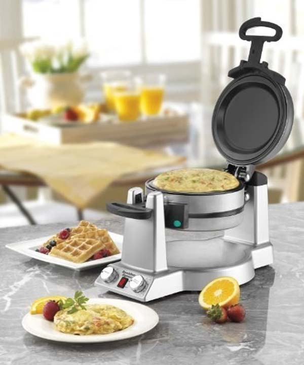 9.) Would you like a waffle, omelette or BOTH? This machine can do it.