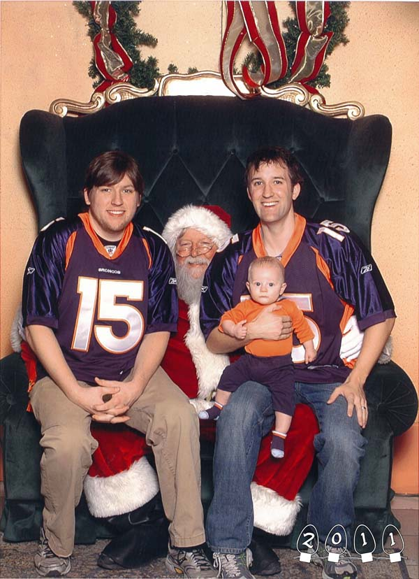 And finally, they have a reason to sit on Santa's lap: their own children!
