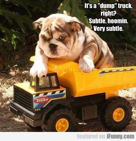 It'd A 'dump' Truck