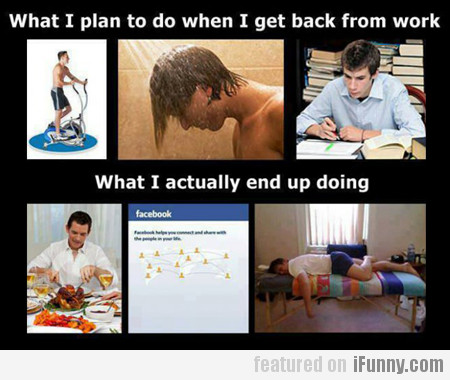 What I Plan To Do When I Get Back From Work...