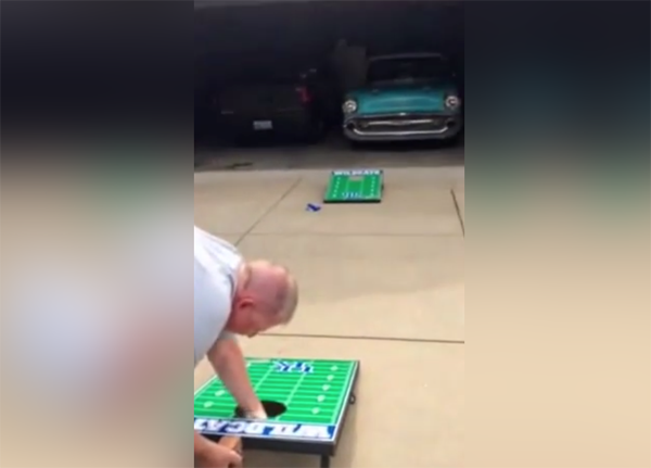 There was a surprise waiting for this dad on his birthday...