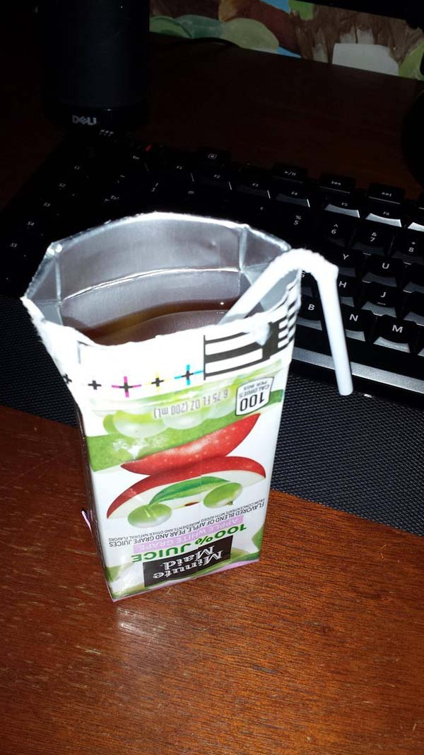 15.) Why would you even put a straw in this cruel joke?