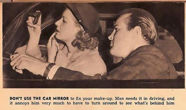 2) Don't use the car mirror.