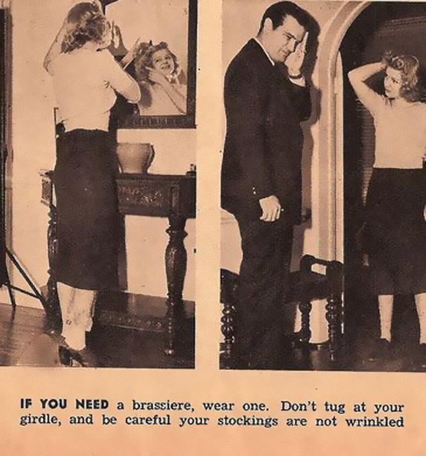 7) Wear a brassiere.