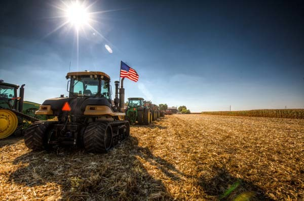 Jake's original plan was to put 20 or so tractors along the road between the edge of Bement and the cemetery just outside of town.