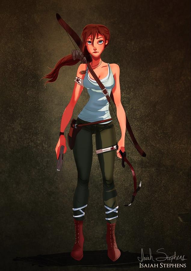 Jane (from <i>Tarzan</i>) as Lara Croft