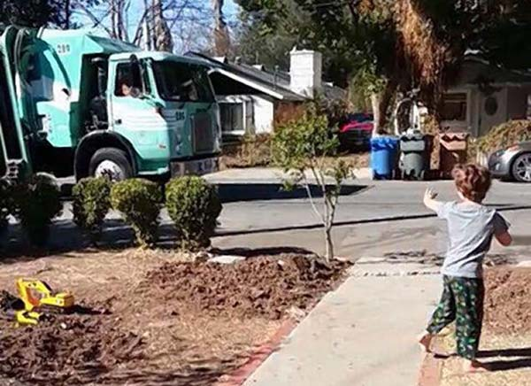 Daniel used to fear the trash collectors, but with some coaxing from his parents, he grew to love them.