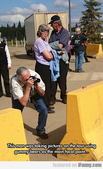 This Man Was Taking Pictures On The Tour...