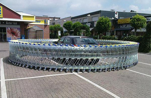6.) Circle the shopping cart wagons