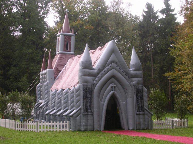 Inflatable Church, Surrey. England