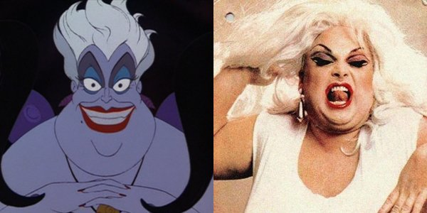 """Ursula the Sea Witch in """"The Little Mermaid"""" is base off a popular 70's drag singer named 'Divine'."""