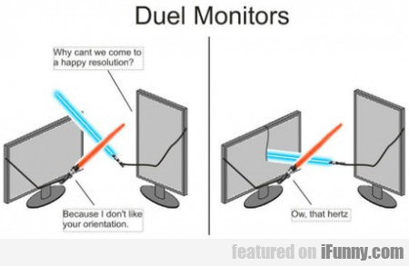 Duel Monitors - Why Can't We Come To A Happy..
