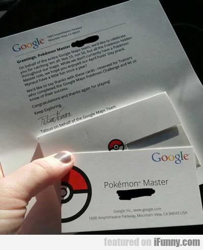 Greetings Pokemon Master...