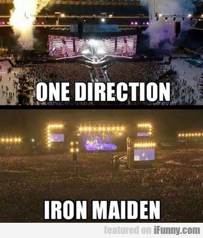 One Direction Vs Iron Maiden...