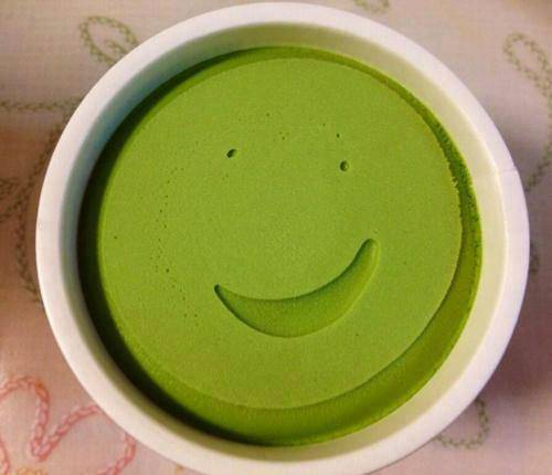 This fresh container of ice cream that's happy to see you.