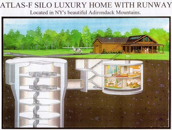 Above the ground, the home is a luxury cabin.
