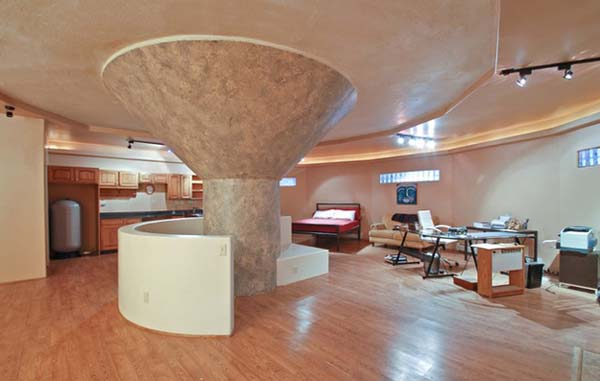 The basement house is just as modern and beautiful as the upstairs living area.