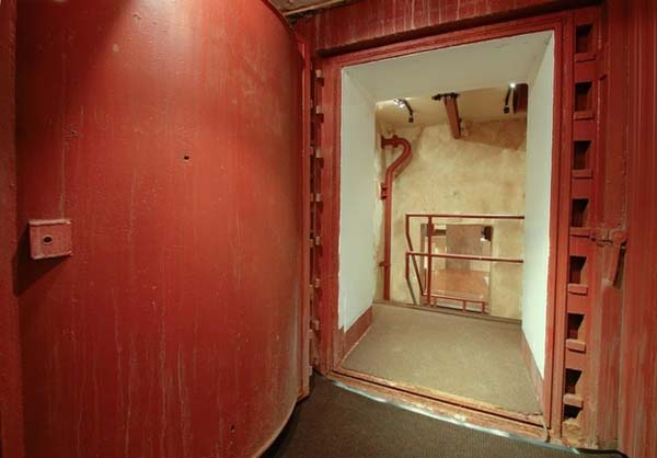 There is an entire living space (2,300 square feet) below the cabin.
