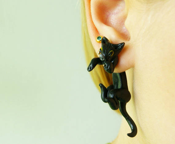 2.) Dangling Cat Earring
