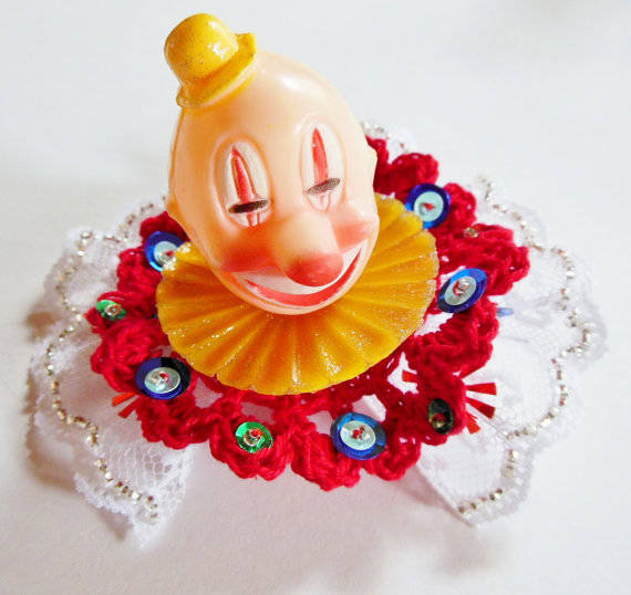 9.) Clown Hair Clip