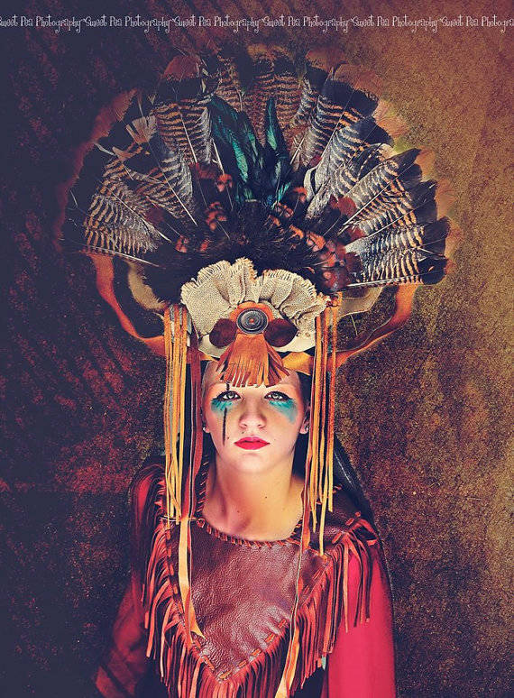 7.) Turkey Feather Headdress